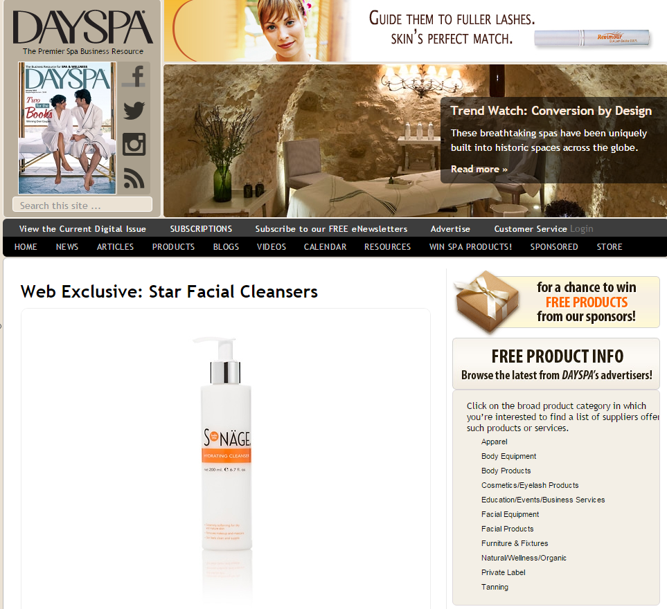 Star Facial Cleansers   Dayspa Magazine Dec 28 2015